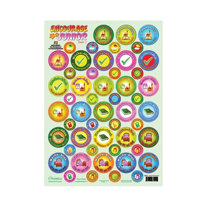 Encourage Junior - House n ° 1 - Plate of 52 stickers of reward and encouragement