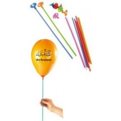 Pack of 10 rods with tips for balloons