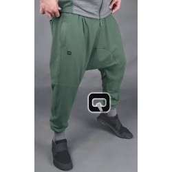 Dark khaki jogging harem pants