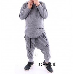 Kid's Suit Qabail ONYX Junior (10-16 years) - light gray