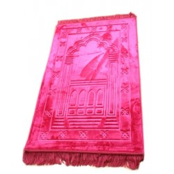 Luxury carpet Grand Confort (padded and ultra-comfortable) candy pink - Mihrab pattern