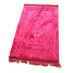 Luxury carpet Grand Confort (padded and ultra-comfortable) candy pink - Kaaba pattern