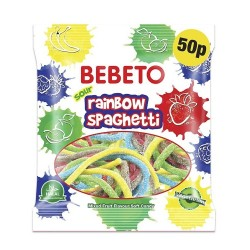 Halal candy sweets Spaghetti Rainbow Jelly Halal without gel (Vegetarian - 80gr)