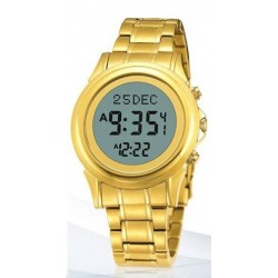 Digital watch with prayer times (automatic calculation of prayer times) - De Luxe men's...