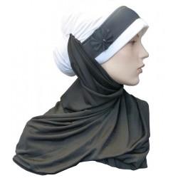Hijab moderne noir et blanc