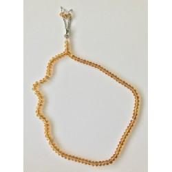 Rosary 99 beads in luxury orange crystal
