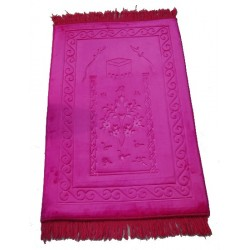 Luxury carpet Grand Confort (padded and ultra-comfortable) purple - Kaaba pattern