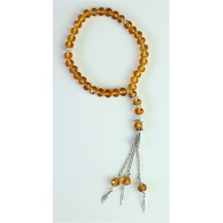 33 Beads Luxury Rosary (Subha) in Yellow Gold Color Crystal