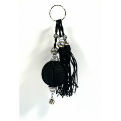 Handcrafted Handcrafted Sabra Decorative Pendant / Keychain - Black