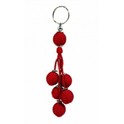 Handcrafted Handcrafted Sabra Decorative Pendant / Keychain - Red