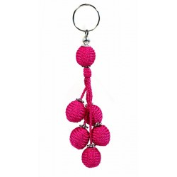 Handcrafted sabra keychain / pendant - Fuchsia