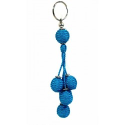 Handcrafted Handcrafted Sabra Pendant / Keychain - Blue