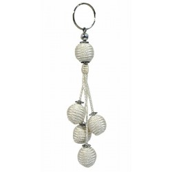 Handcrafted Handcrafted Sabra Decorative Pendant / Keychain - White