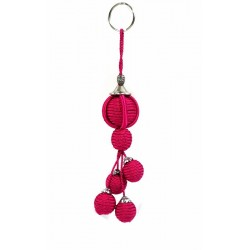 Handcrafted Sabra Pendant / Keychain - Fuchsia