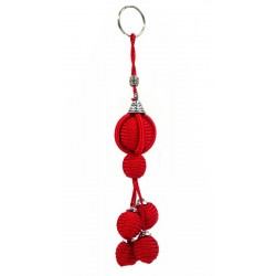 Handcrafted Handcrafted Sabra Keychain - Red