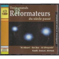 """Trois grands réformateurs du siècle passé """"Al Albani - Ibn Baz - Al Uthaymin"""" (4 CD audio)"""