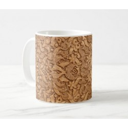 Mug floral arabesque wall decoration (Ancient Islamic Art)