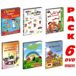 Pack 6 DVD reference for children (Arabic language, Koran, good manners, invocations,...