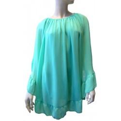 Top de couleur vert clair pour femme - Taille standard