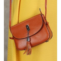 Handbag with flap for women - Rust color