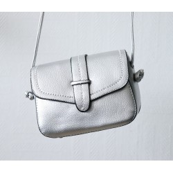 Shoulder bag for women - Silver gray color