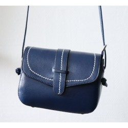 Shoulder bag for women - Navy blue color