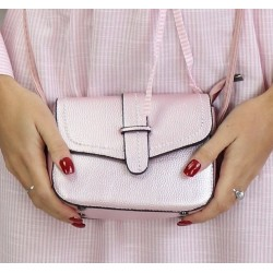 Shoulder bag for women - Shiny pink color