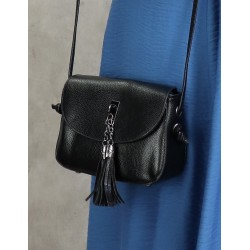 Handbag with flap for woman - Color Black